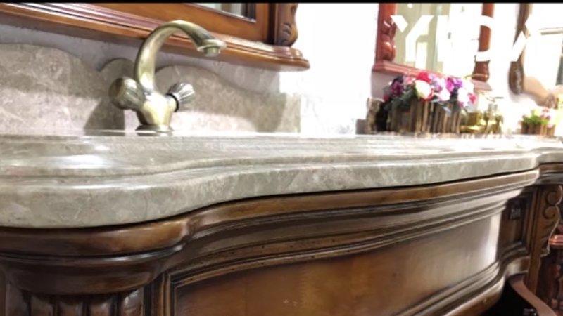 Slideshow-showroom-antique bathroom vanity set