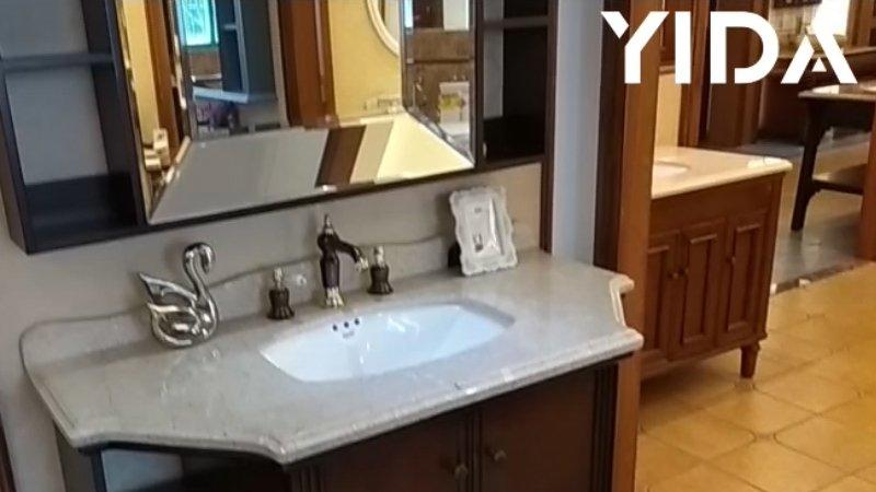 Video-showroom-antique modern bathroom vanity