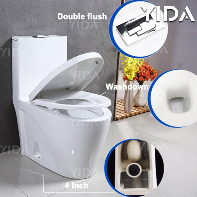 One Piece Toilet Washdown Flush 8018