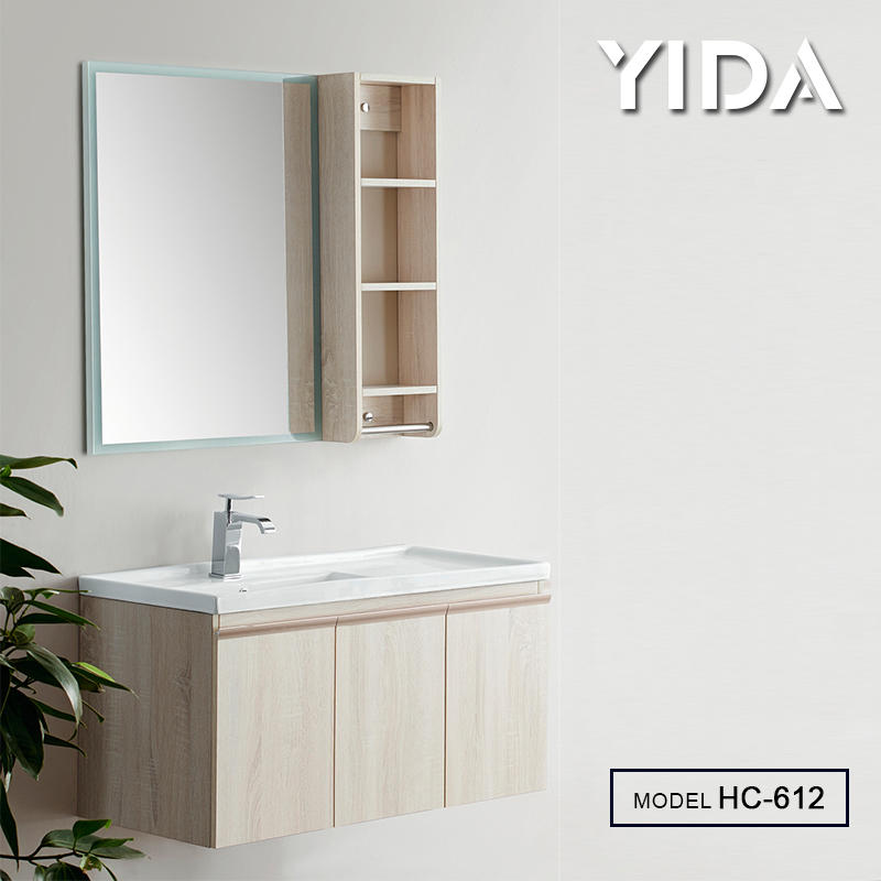 Water Proof Bathroom Cabinet Multiplayer Board Material with Mirror - HC-612