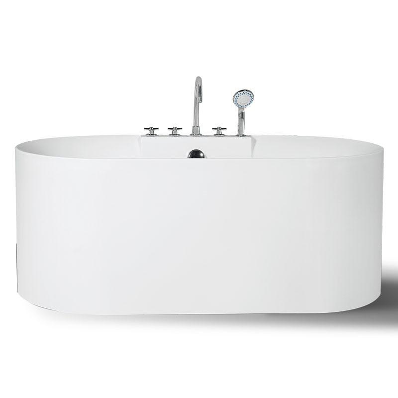 Bathtub simple sanitary ware bathroom suite with shower faucet - QT-009