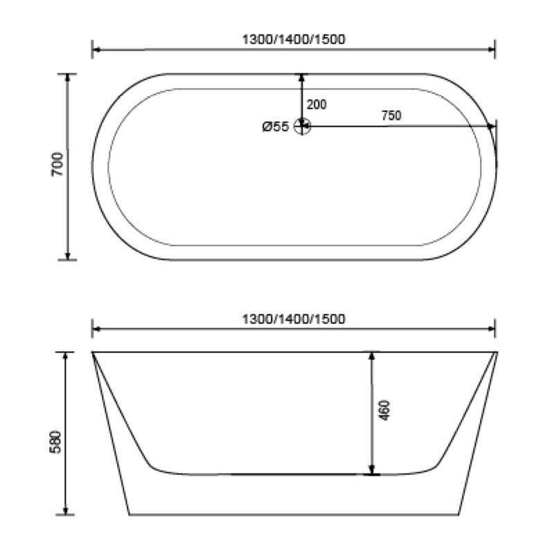 Free standing bathtubs luxury european style - QT-056