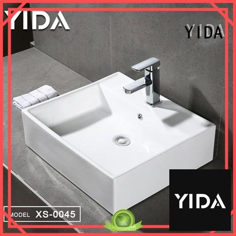 good quality counter top basin widely employed for restaurant water closet
