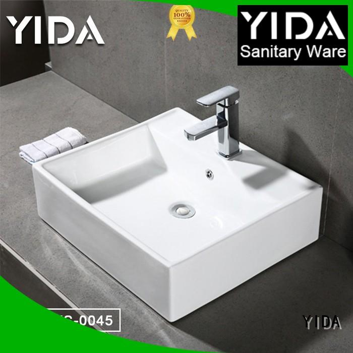 YIDA durable counter top basin widely employed for apartment building