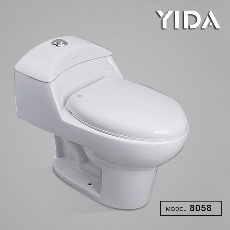 One Piece Toilet Siphonic Flush 8058
