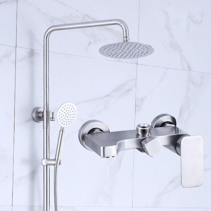 Simplistic Design Stainless Steel 304 Shower Set for Shower Room - 81002