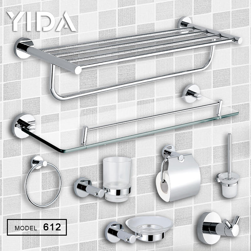 Thick Stainless Steel Mirror Polished Bathroom Accessories - 612