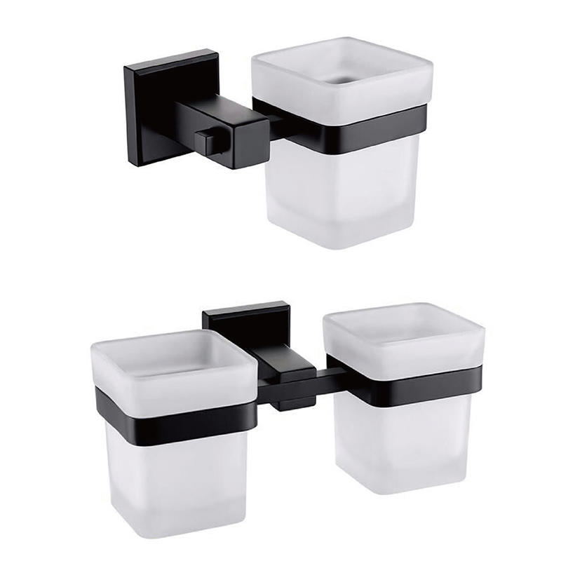 Bathroom Towel Holder Paper Holder Soap Dish Cup and Brush Accessory Set- 715