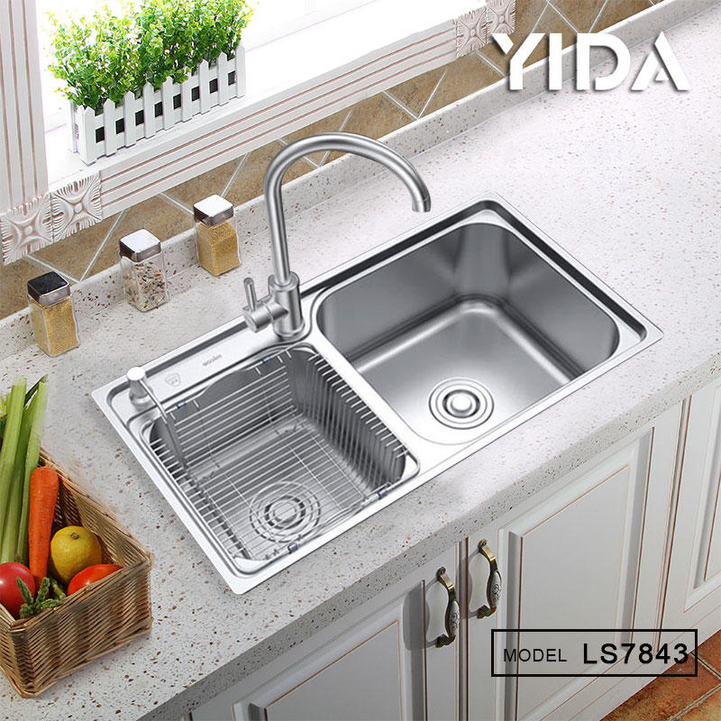 Double Bowl Stretch Kitchen Sink for Home/Project/Hotel/Super Market - LS7843