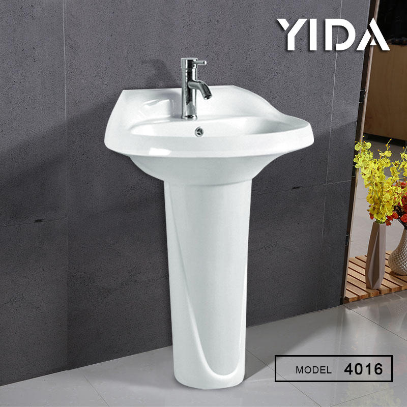 Pedestal Basin Ivory Color Saudi Arabia Sanitary Ware Bathroom - 4016