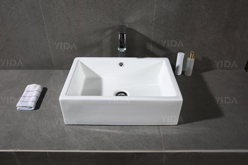 Foshan Art Basin Hospital White Color Ceramic Material - XS-0058